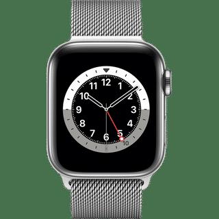 Apple Watch Series 6 GPS + Cellular Edelstahl Silber 40.00 Frontansicht