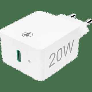 Hama Ladegerät Power Delivery 20W Weiß Frontansicht