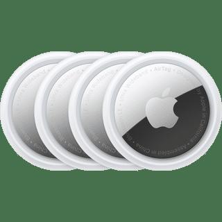 Apple Airtag 4er Pack Weiß Frontansicht