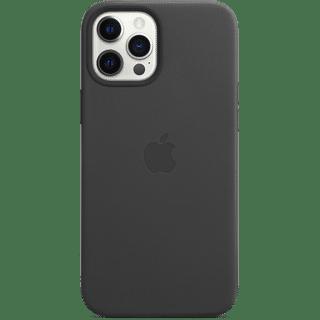 Apple iPhone 12 Pro Max Leather Case mit MagSafe Schwarz Frontansicht