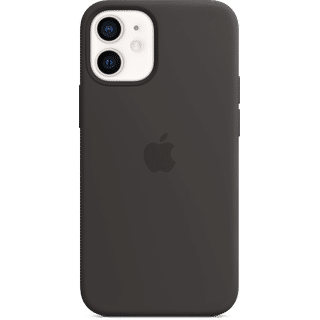 Apple iPhone 12 Mini Silikon Case mit MagSafe Schwarz Frontansicht