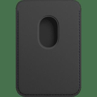 Apple iPhone Leder Wallet mit MagSafe Schwarz Frontansicht