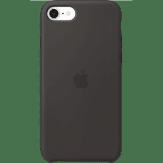 Apple iPhone SE 2020 Silicone Case Schwarz Frontansicht