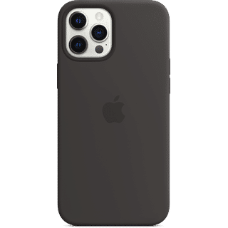 Apple iPhone 12 Pro Max Silikon Case mit MagSafe Schwarz Frontansicht