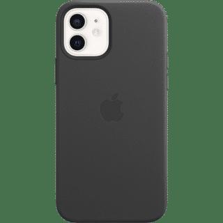 Apple iPhone 12|12 Pro Leather Case mit MagSafe Schwarz Frontansicht