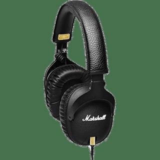 Marshall Monitor Kopfhörer Schwarz Frontansicht