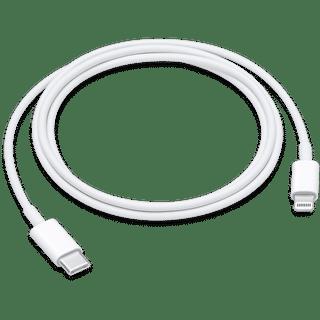 Apple USB C auf Lightning Kabel Weiß 1.00 Frontansicht
